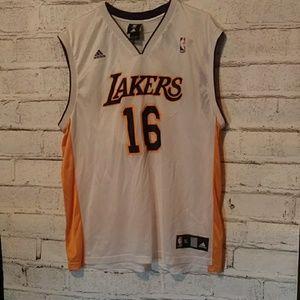 LA Lakers Pau Gasol Adidas jersey